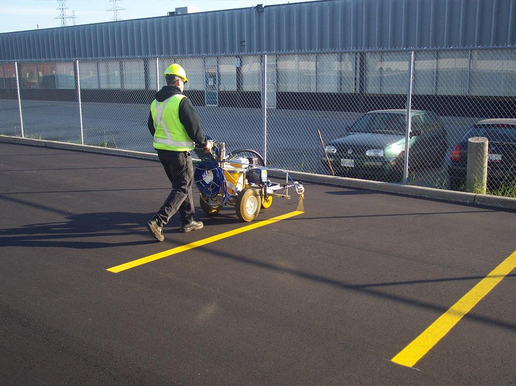 Pavement Line Marking Line Painting Parking Lot Line
