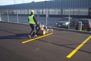 line marking parking lot