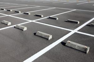 Empty car parking spaces